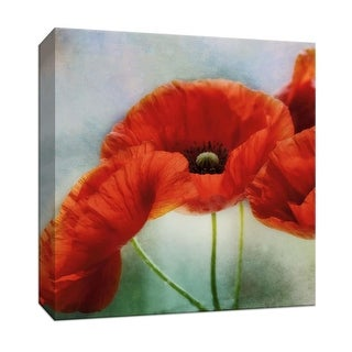 """PTM Images 9-146722  PTM Canvas Collection 12"""" x 12"""" - """"Artful Poppies I"""" Giclee Flowers Art Print on Canvas"""