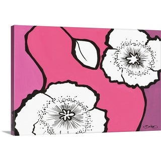 """Flowers in Unity - Pink"" Canvas Wall Art"