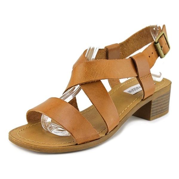 Steve Madden Lorelle Women Open Toe Leather Tan Sandals
