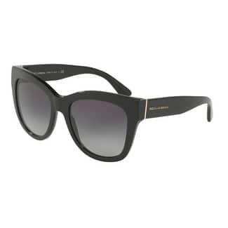 Dolce & Gabbana Women's DG4270 501/8G 55 Grey Gradient Plastic Square Sunglasses