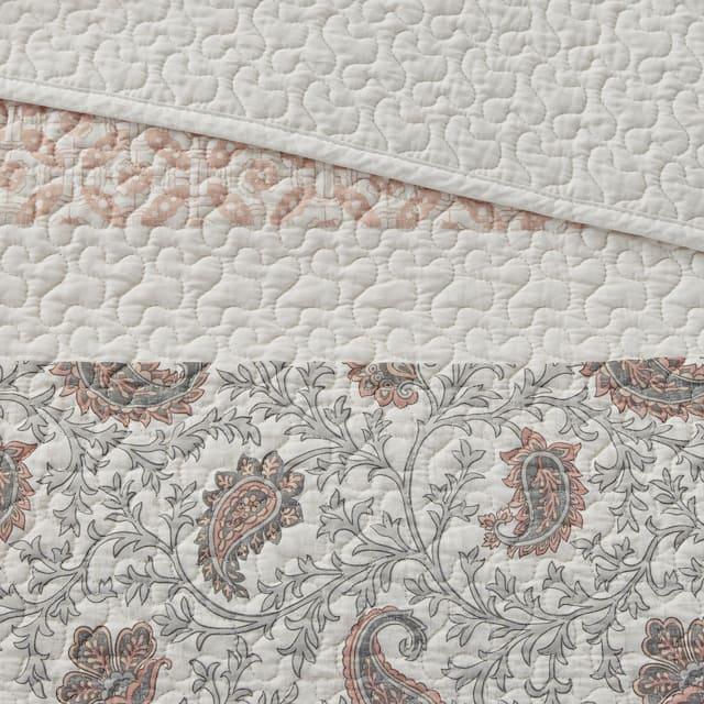 Madison Park Vanessa Cotton Percale 6-piece Reversible Coverlet Set