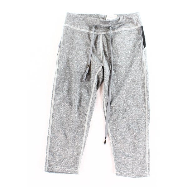 Live Electric NEW Gray Women's Size Small S Capris Cropped Drawstring Pants