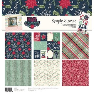 "Simple Stories Simple Sets Collection Kit 12""X12""-Peace On Earth"