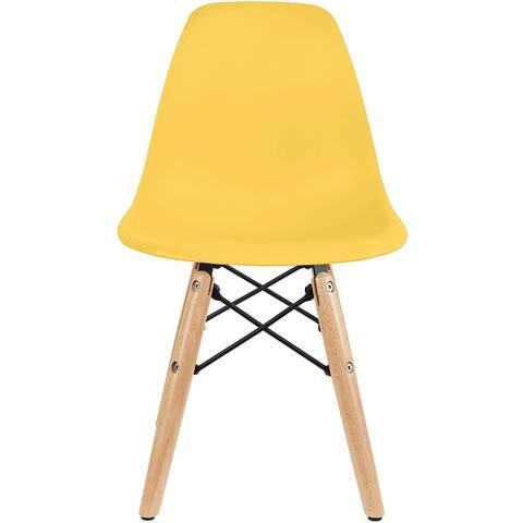 Kids Toddler Chair Side No arm Armless Natural Wood Legs Eiffel For Kitchen Desk Work Bedroom Playroom Preschool