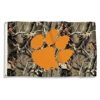 Clemson University Tigers Camo Flag
