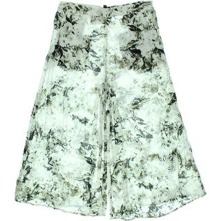 Kiind Of Womens Printed Wide Leg Culottes - 4
