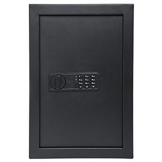 Ivation Keypad Digital Wall Safe  20.6 x 13.8 x 3.7 Home Security Box, Backup Keys & Mounting Kit