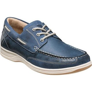 Florsheim Men's Lakeside Ox Boat Shoe Indigo Smooth Leather/Suede