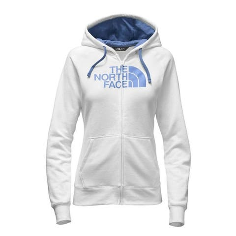 The North Face Women's Half Dome Full-Zip Hoodie White/Coastal Fjord Blue