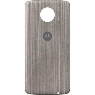 Motorola Moto Style Shell Case for Moto Z Family - Silver Oak Wood