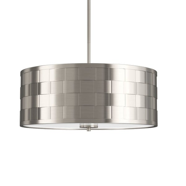 """Park Harbor PHPL5074 20"""" Wide 4 Light Foyer Pendant with Patterned Metal Drum Shade"""
