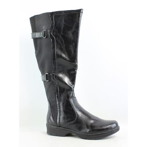 LifeStride Womens Venture Ws Black Fashion Boots Size 6