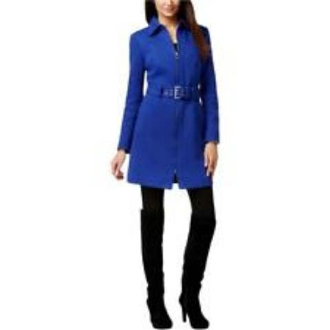 INC Women's Knit Long Basic Coat, Goddess Blue, X-Large