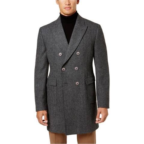 Tallia Mens Herringbone Pea Coat