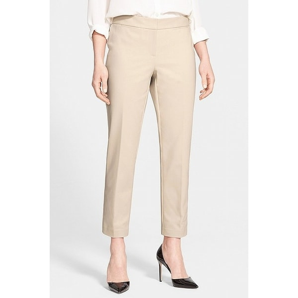 Shop Nordstrom Collection Beige Women S 10 Ankle Dress Pants Stretch