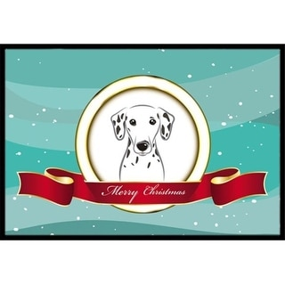 Carolines Treasures BB1520JMAT Dalmatian Merry Christmas Indoor & Outdoor Mat 24 x 36 in.