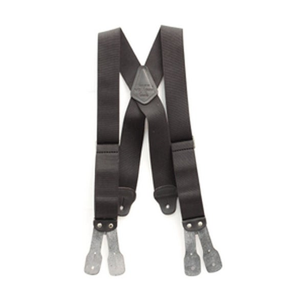 Nocona Suspenders Mens Galluse HDX Work Elastic Black - 2""