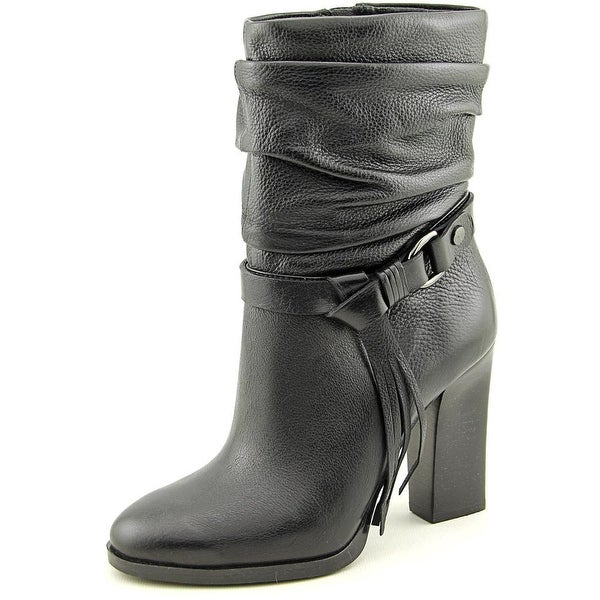 Guess Tamsin Round Toe Leather Ankle Boot