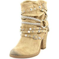 Not Rated Swazy Women  Round Toe Canvas Nude Ankle Boot