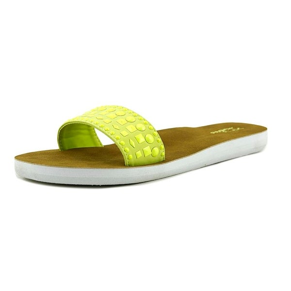 Dirty Laundry FLS6182BDL Women Open Toe Synthetic Yellow Slides Sandal