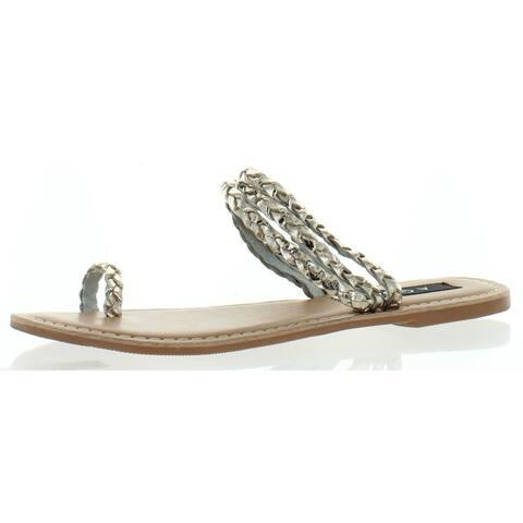Aqua Womens Slay Flats Leather Braided