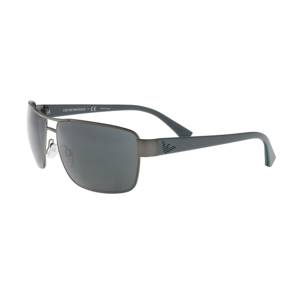 c0d1258ef302 Emporio Armani EA2031 311287 Gunmetal Grey Rectangle Sunglasses - 62-15-130