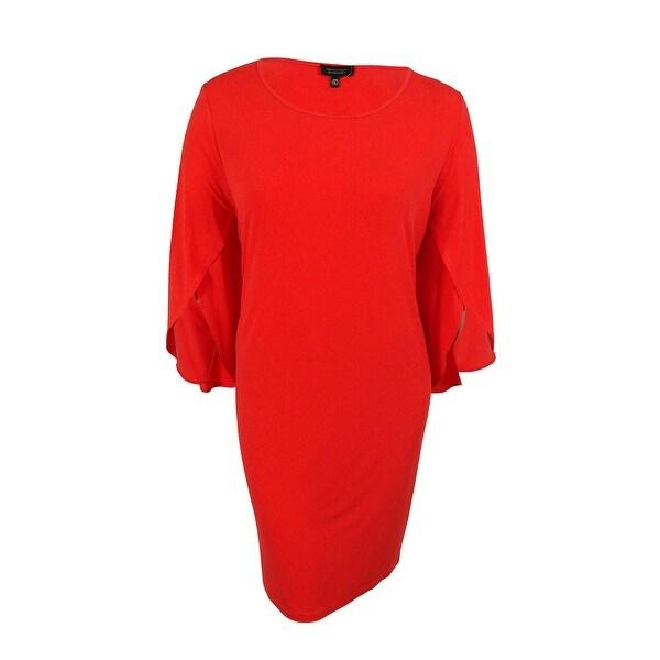 05b34e6ece215 Spense Women's Split Sleeves Shift Dress - Red Hot - 20W
