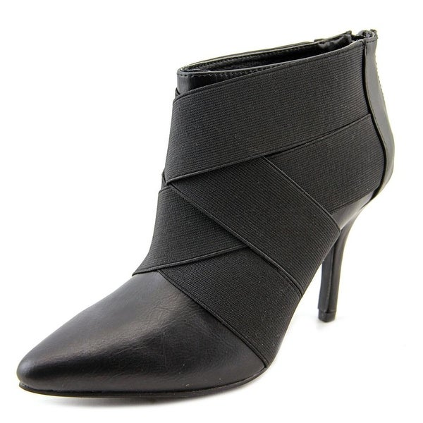 Stretchie Round Toe Synthetic Bootie