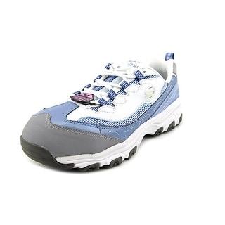 Skechers D'Lite SR Service Women WW Round Toe Leather Blue Sneakers