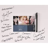 Gallery Solutions White Signature Mat with Pen, 14 by 11-Inch
