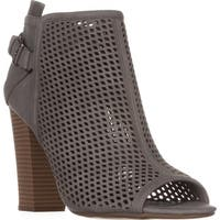 G by Guess Jerzy Peep Toe Ankle Booties, Dark Gray