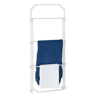 AP Products 0041723 Narrow Back of Door Towel Rack, White