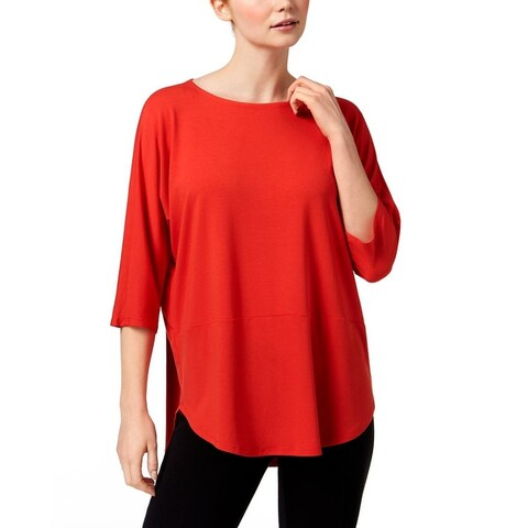 Eileen Fisher Womens Pullover Top Jersey Hi-Low - M