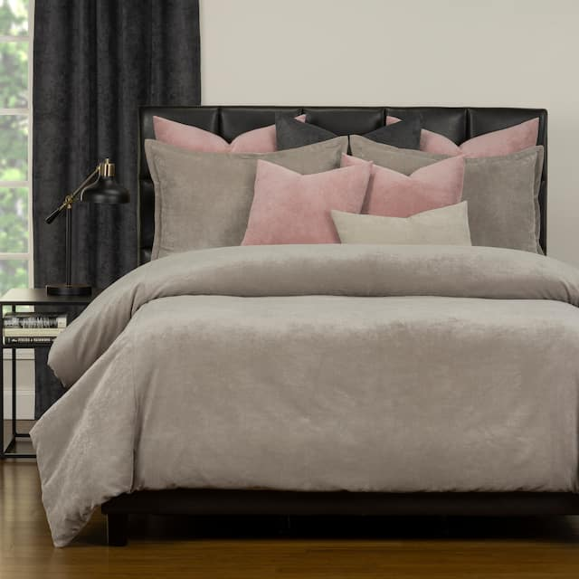 Mixology Padma 10 Piece Duvet Cover and Insert Set - Dove - Queen