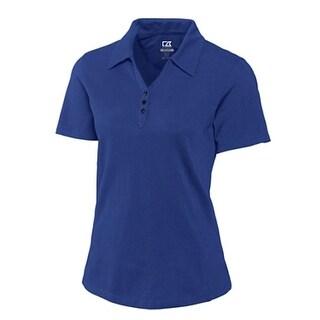 Cutter & Buck Women's Tour Blue X-Small CB Drytec Championship Short Sleeve Polo