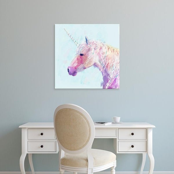 Easy Art Prints Victoria Borges's 'Mystic Unicorn II' Premium Canvas Art