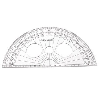 Unique Bargains School Office Stationery Plastic 0-180 Degree Protractor Ruler Clear 20cm Long