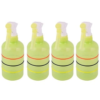 Home Vegetable Plant Flower Water Trigger Spray Bottle Green Yellow 400ml 4pcs - green yellow