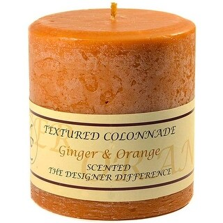 1 Pc Textured 4x4 Ginger and Orange Pillar Candles 4 in. diameterx4.25 in. tall