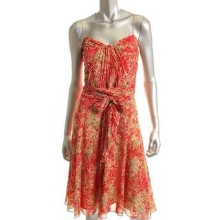 Ralph Lauren Womens Chiffon Pleated Sundress - 14