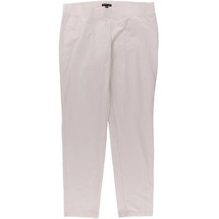 Eileen Fisher Womens Flat Front Solid Casual Pants - L