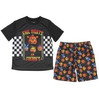 Five Nights At Freddy's Big Boys' Animatronic Bunch S/S Shorts Pajama Set