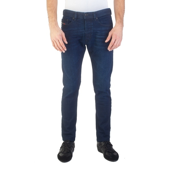 863796ce Shop Diesel Men's Slim Carrot Fit Tepphar 084LC Stretch Jean Pants Dark  Blue - 30 - Free Shipping Today - Overstock - 25696035
