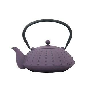 GURO Cast Iron 38 Ounces / 1.2L Purple Japanese Teapot - Shinga