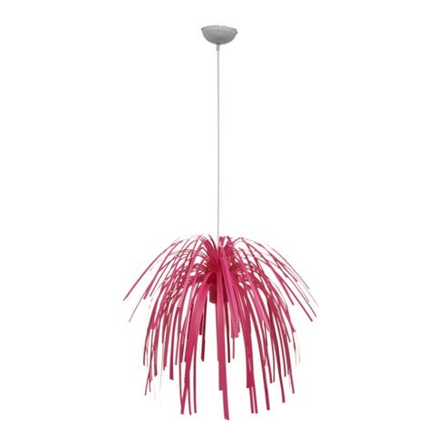 Present Time Fireworks Bright Pink Pendant Lamp - 51.5 X 21 X 21 inches