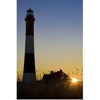"""Fire Island Light, Long Island, New york"" Poster Print"
