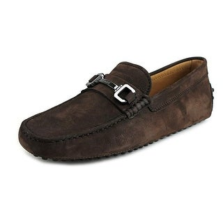 Tod's Morsetto Giuli New Gommini 122 Youth Suede Brown Moccasins