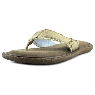 Crevo Fresno II Men  Open Toe Canvas  Thong Sandal