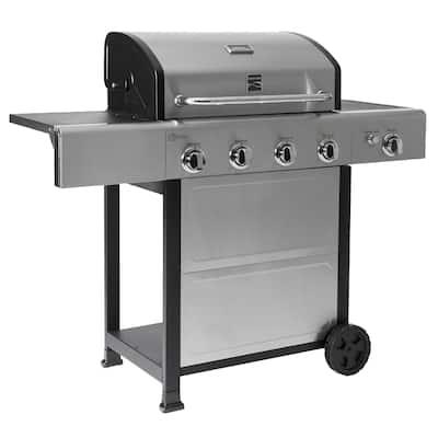 Kenmore 4 Burner plus Side Burner Propane with Stainless Steel