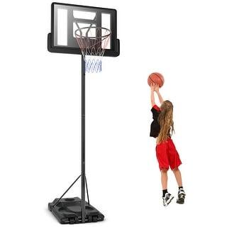 Gymax Height Adjustable Portable Basketball Hoop System Shatterproof Backboard Wheels